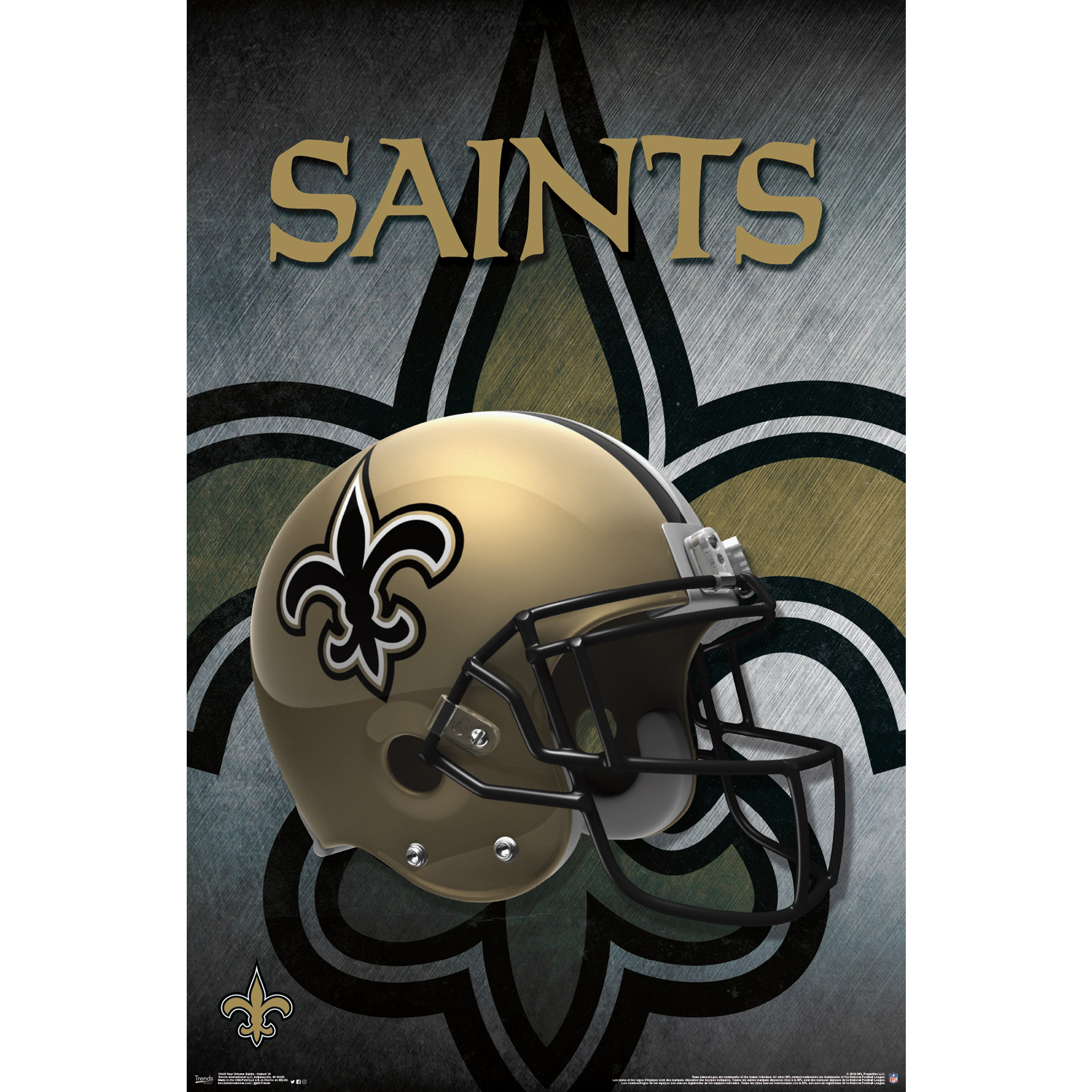 New Orleans Saints Helmet 22'' x 34'' Logo Poster - No Size