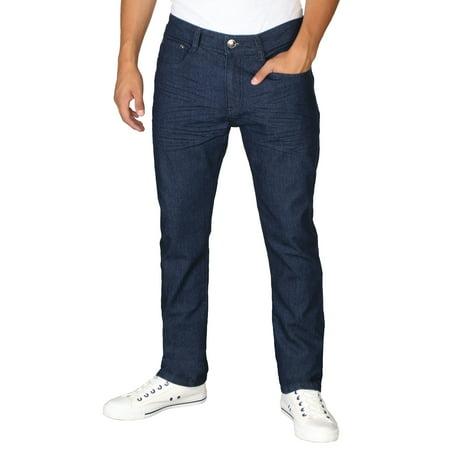 - RD Men's Light Distressed Slim Fit Denim Jeans-38 X 32 (36W x 32L, Dk Blue Stone)