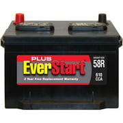 EverStart Plus Lead Acid Automotive Battery, Group Size 58R