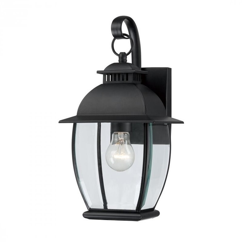 Quoizel Bain Small Wall Lantern in Mystic Black