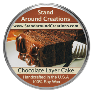 CHOCOLATE LAYER CAKE TUREEN 8-OZ. ALL NATURAL SOY CANDLE