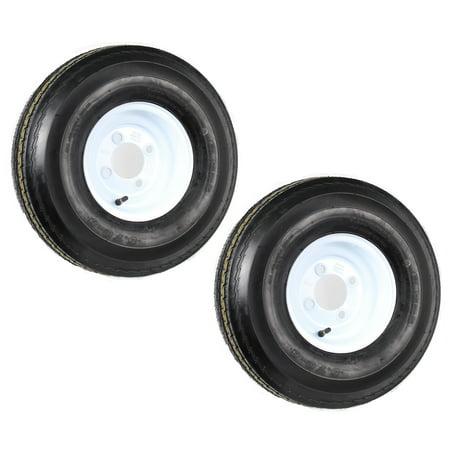 - 2-Pack eCustomrim Trailer Tire Rim 5.70-8 570-8 4H White Steel Load Range C in.