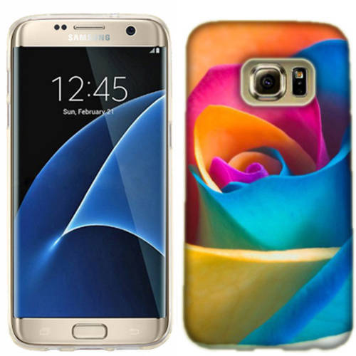 Mundaze Rainbow Rose Phone Case Cover for Samsung Galaxy S7 edge