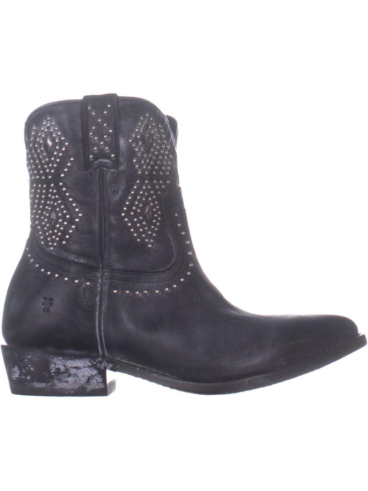 87b07e82f9a FRYE Billy Stud Short Distressed Western Boots
