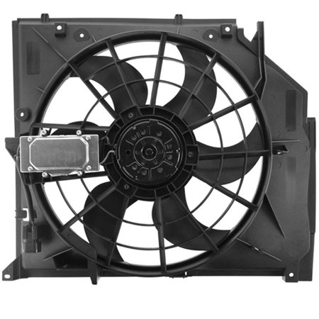 Bmw Radiator Support (TOPAZ 17117561757 E46 Radiator Cooling Fan Assembly for BMW 3 Series 323i 325i 325xi 328i 330i 99-05)