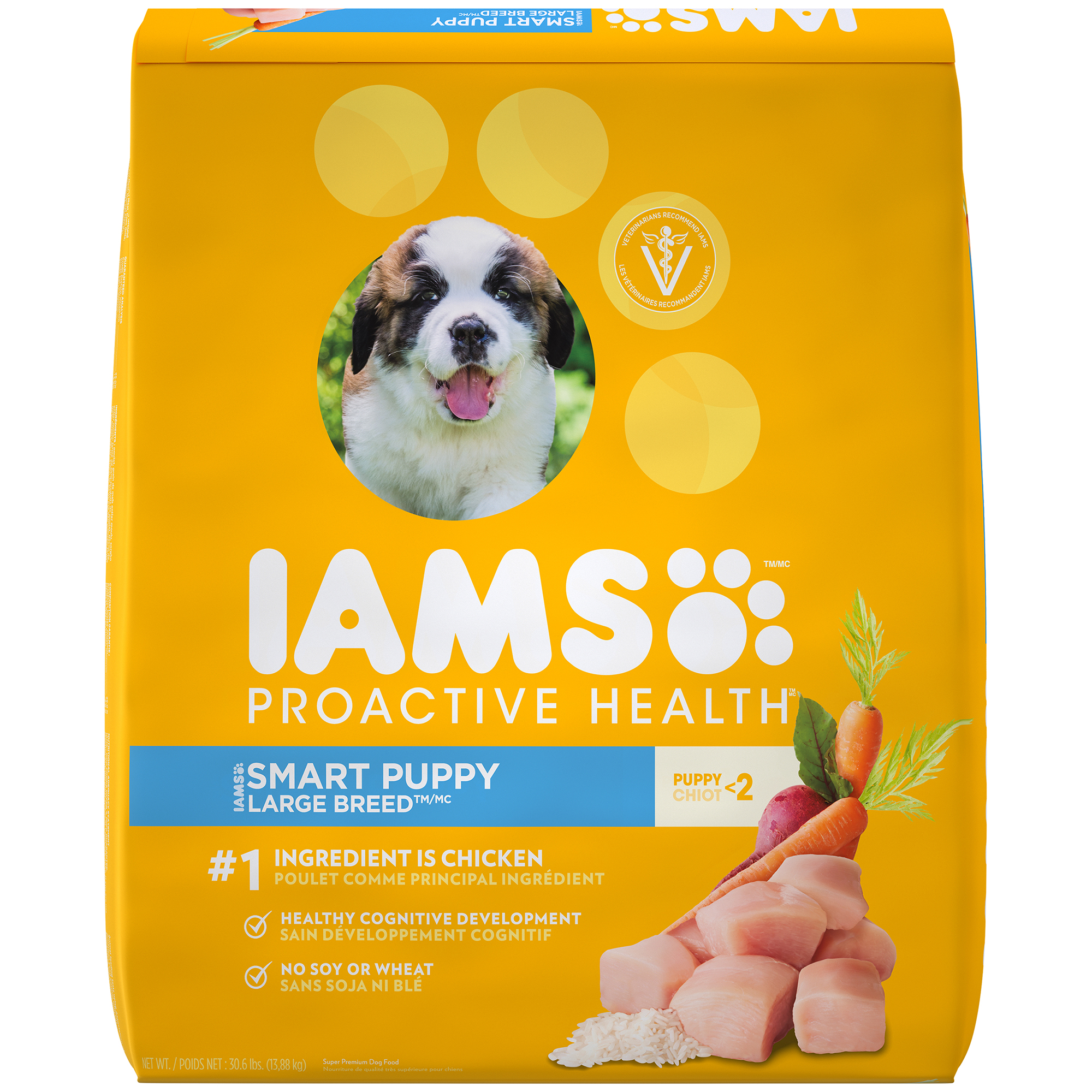 Iams Proactive Health Smart Puppy Dry Dog Food, Chicken, 30 Lb