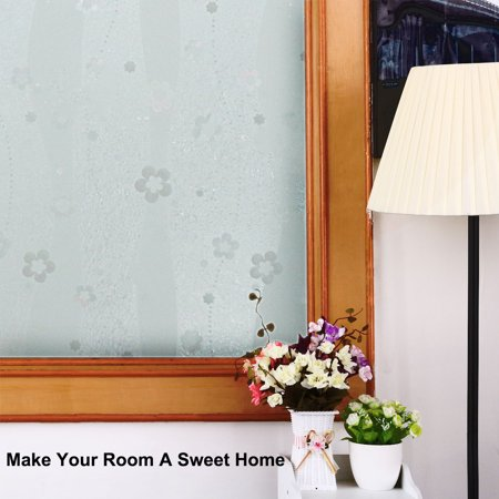 PVC Flower Pattern 3D Anti UV Static Cling Window Films 78.7-inch by 35.4-inch - image 4 of 6