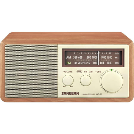 Sangean AM FM Analog Table Top Hi-Fi Radio by