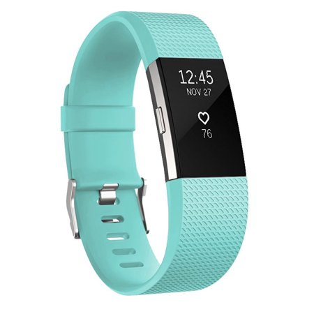 For Fitbit Charge 2 Band, EEEKit Adjustable Replacement Soft Silicone Wrist Strap Wristband with Secure Metal Buckle Clasp Large Size for Fitbit Charge 2 Smartwatch