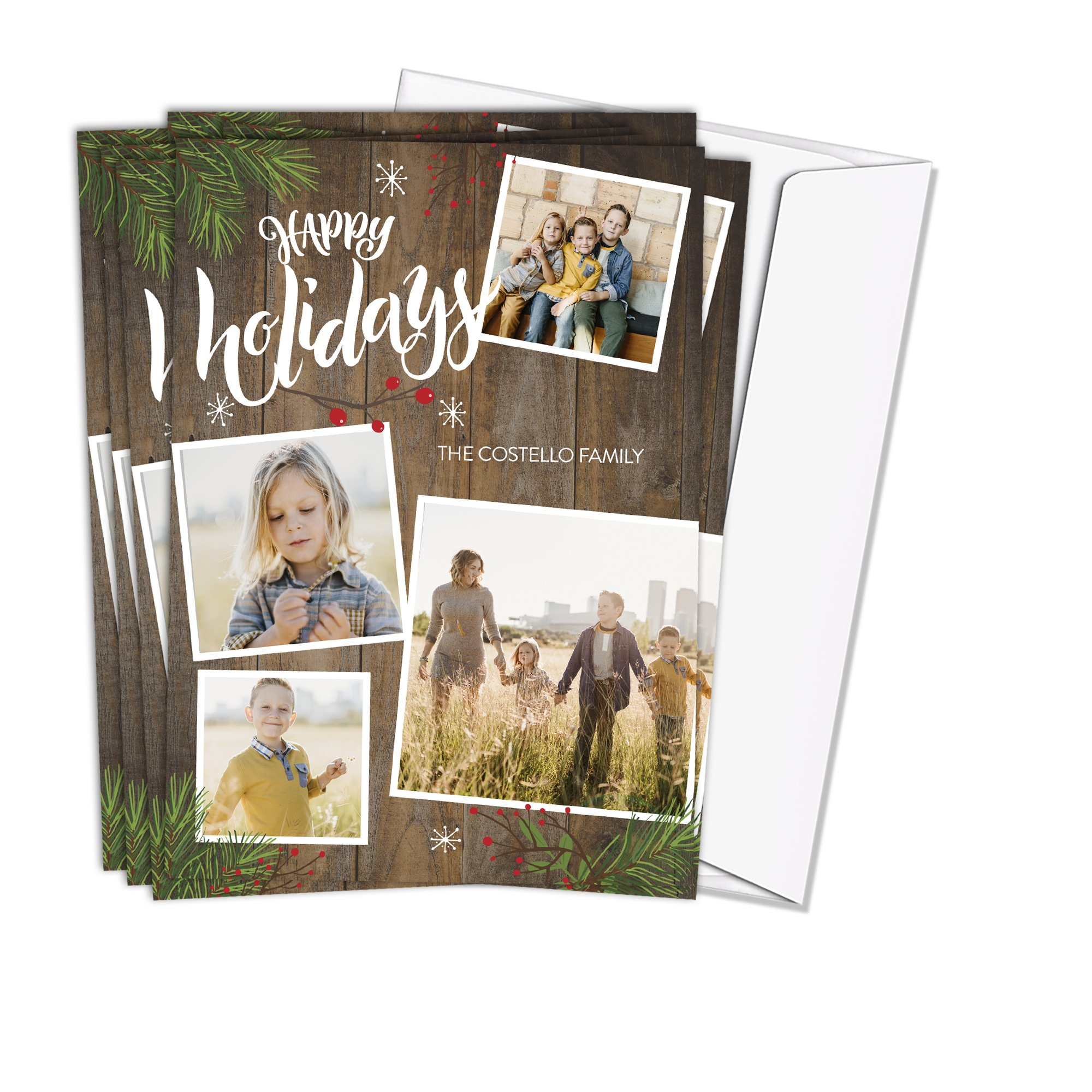 5x7 Photo Card Stock 110 lb with Return Address Printing Tier 1