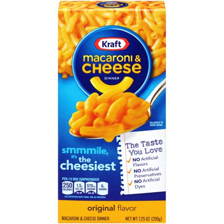 Kraft Original Flavor Macaroni & Cheese Dinner, 7.25 oz