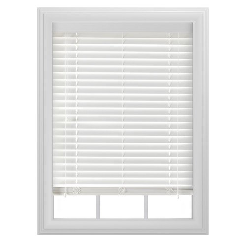 Bali 2 Room Darkening Faux Wood Blind White Available In Multiple Sizes