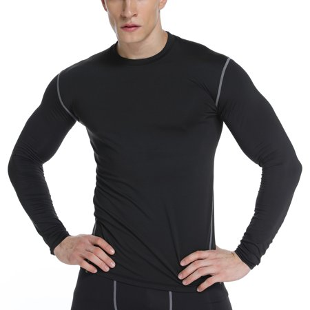 FITTOO Mens Thermal Winter Gear Compression Shirt Underwear Baselayer Long Sleeve for Cold Weather (Womens Coldgear Base)