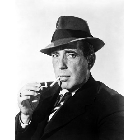 0d5658aeb Humphrey Bogart Smoking in Black Suit and Hat Photo Print