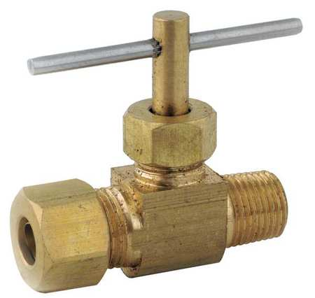 ANDERSON METALS 709101-0404 Needle Valve, Low Lead Brass, 150 psi