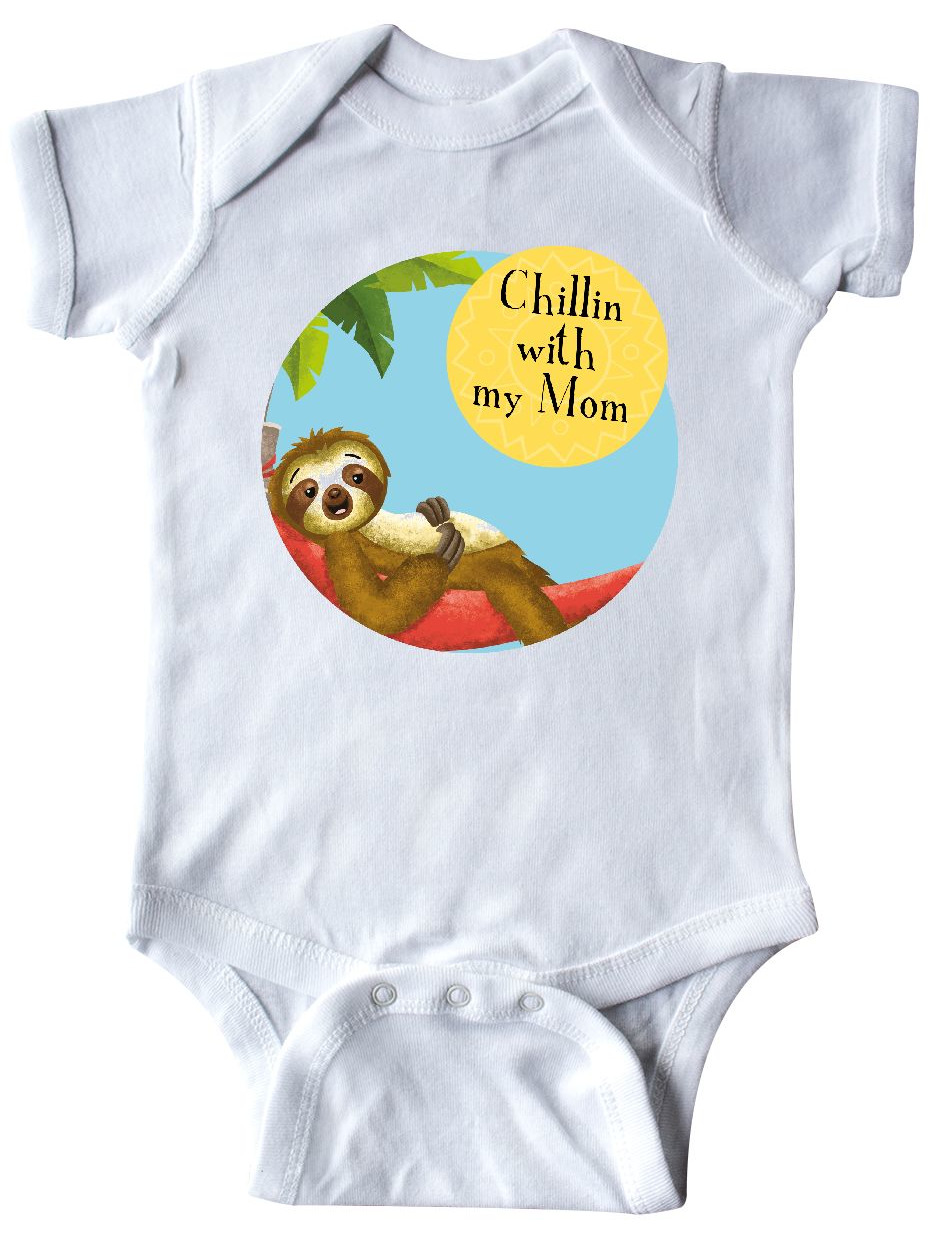 Tiny Tusks inktastic Sedrick Sloth Chillin with Mama Cute Toddler T-Shirt