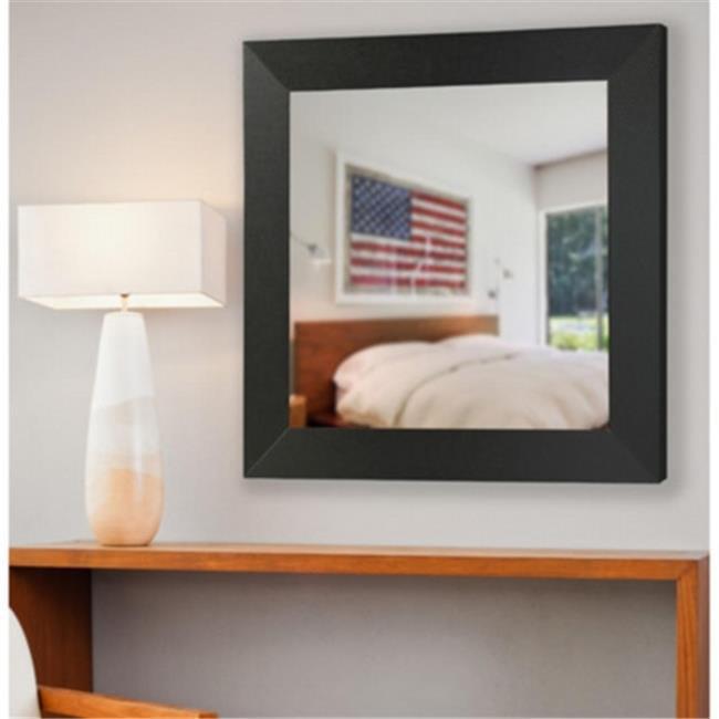 Rayne Mirrors S075ML American Made Audrianna Marie Black Carbon Fiber Square Mirror, 32.5 x 32.5 x 0.75 by Rayne Mirrors