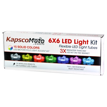 KapscoMoto Motorcycle 7 Color LED Accent Light Kit Remote For Yamaha V-Star Vstar V Star XVS 1100