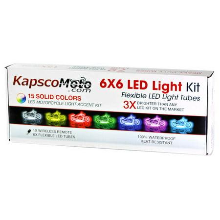 Motorcycle 7 Color LED Accent Light Kit Remote For Honda CM 250 400 450 Custom - image 5 de 5