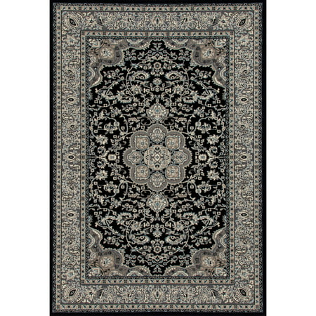 Woven Center (Traditional High Quality Center Medallion Woven Area Rug with Border, 068 )