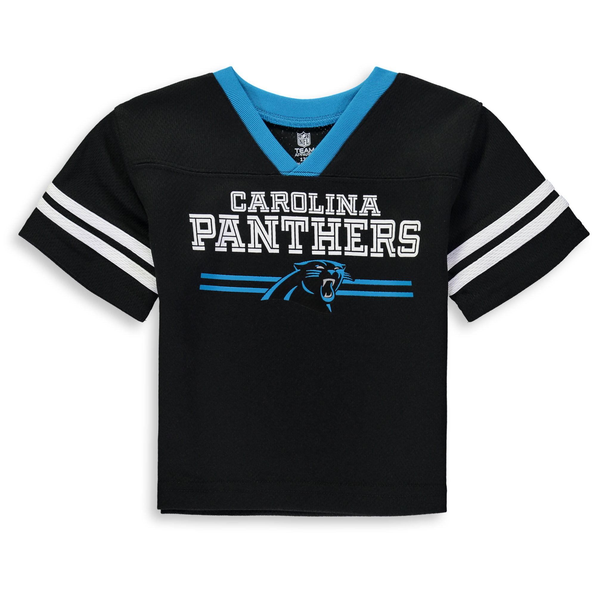 Newborn & Infant Black Carolina Panthers Mesh Jersey T-Shirt