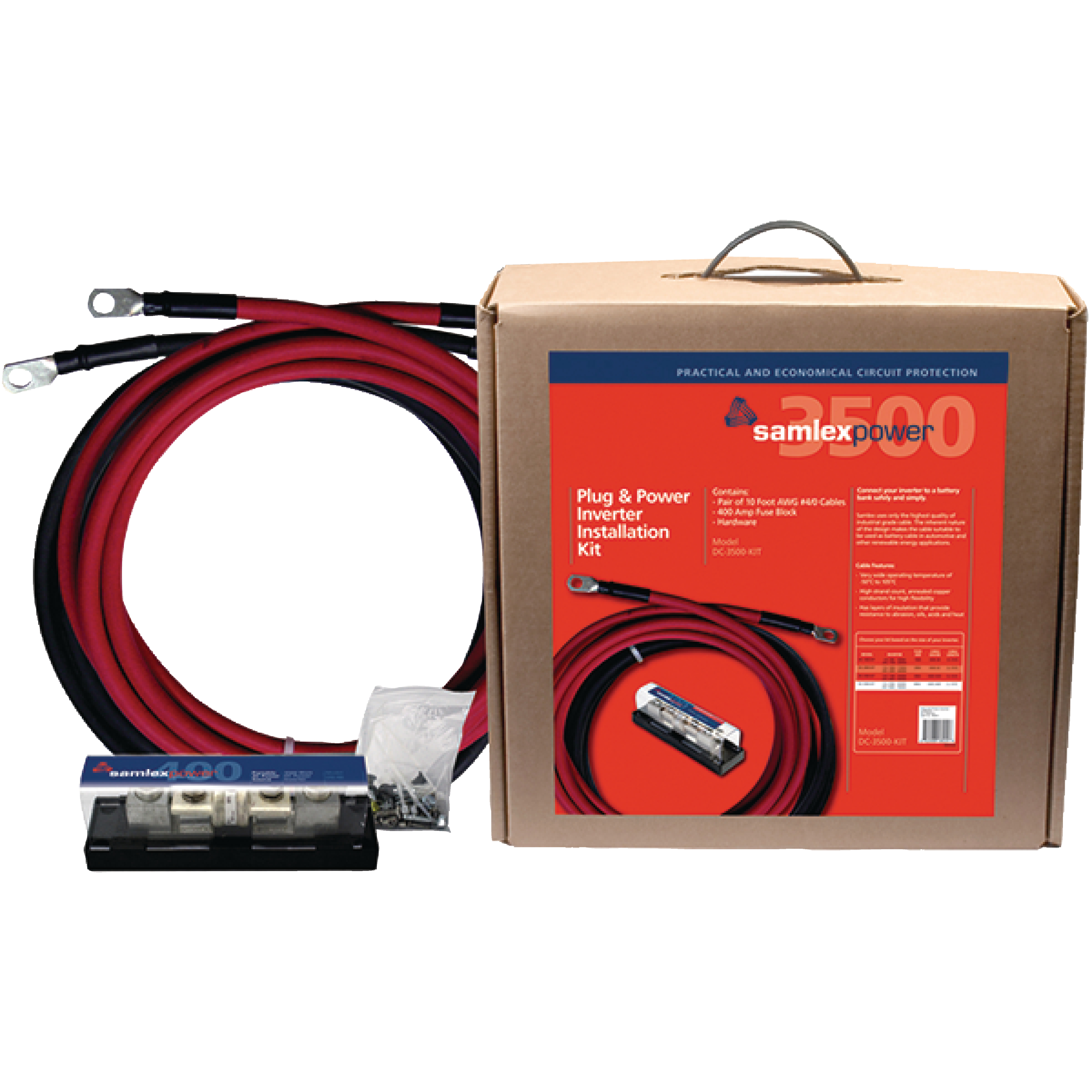SamlexPower DC-3500-KIT 400A Fuse Inverter Installation Kit