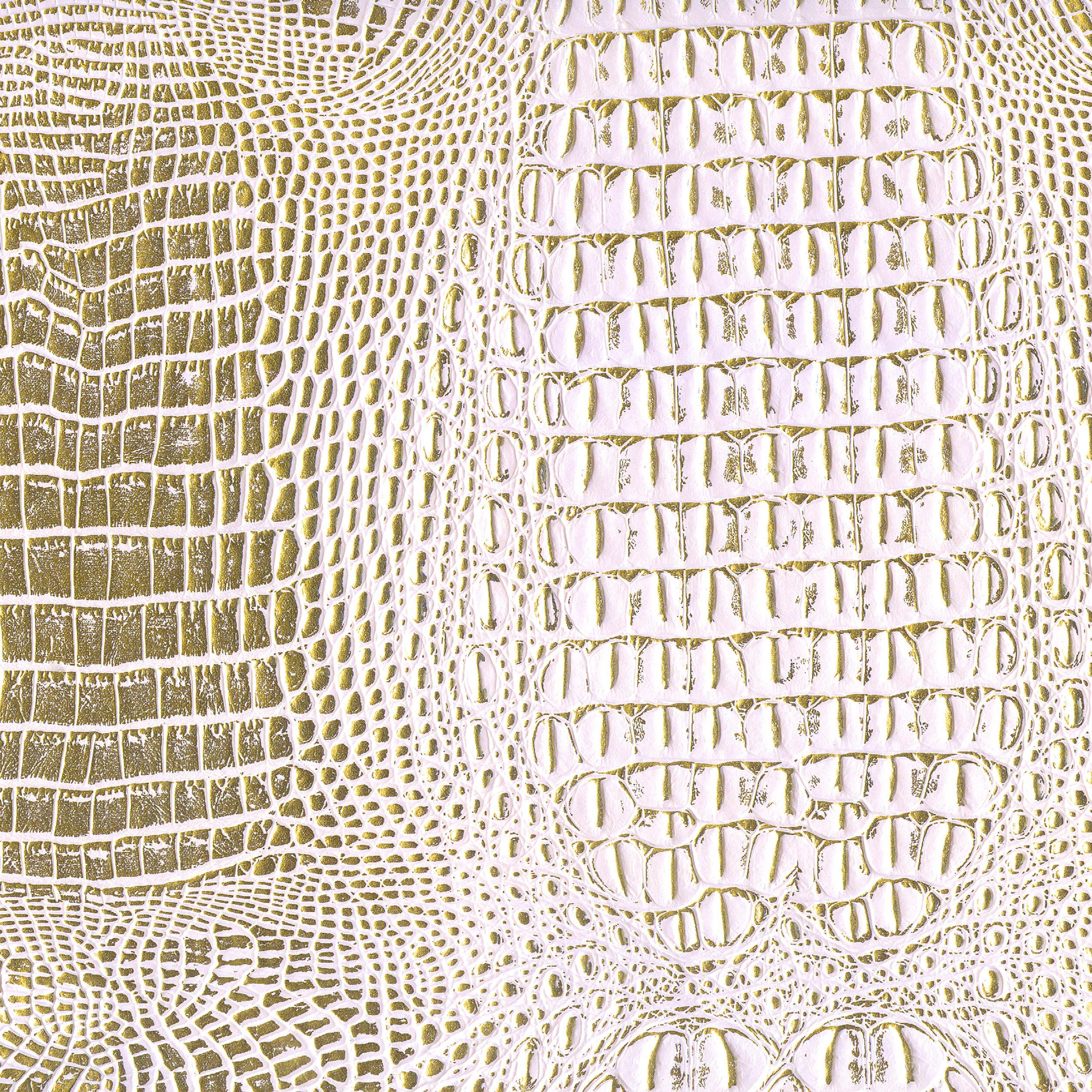 Shason Textile Faux Leather Crocodile 2 Tones Print