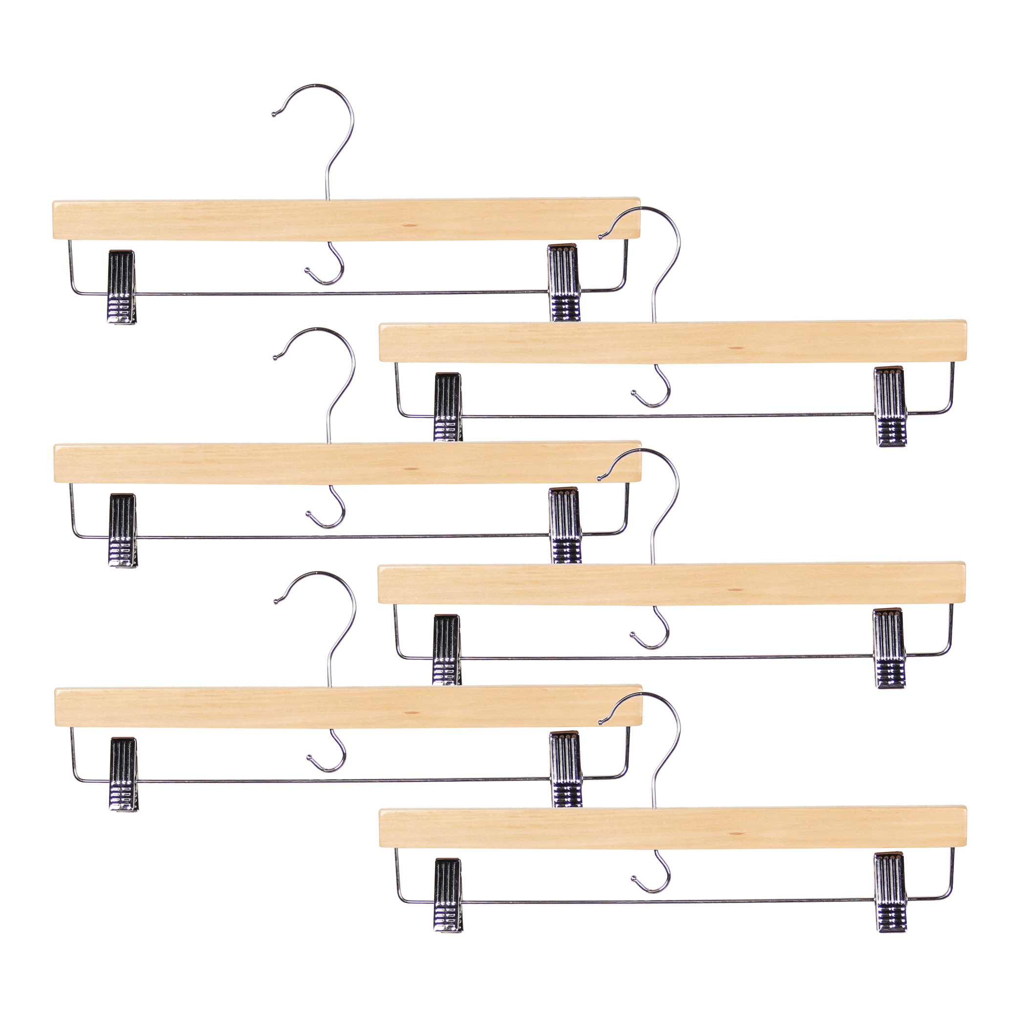 Natural/Trouser Clamp set of 6