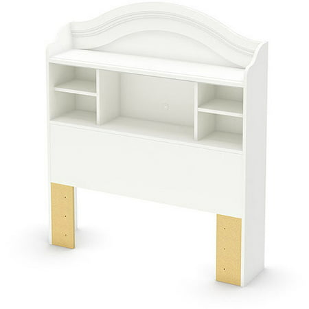 Twin Savannah Bookcase Headboard   Pure White  - South Shore