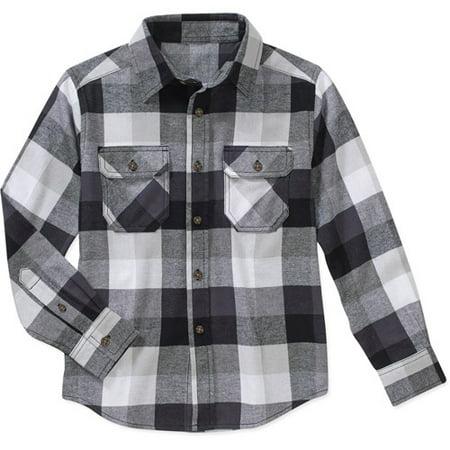 52cf51c61 Faded Glory - Boys' Long Sleeve Flannel Shirt - Walmart.com