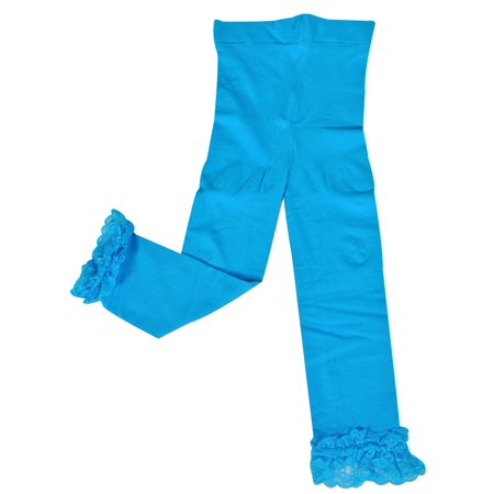 Wrapables® Toddler Stretch Leggings with Lace Trim, Blue