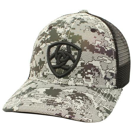 d1b96fe674bdf Ariat - Ariat Mens Hat Baseball Cap Mesh Snap Back Shield Logo Camo ...