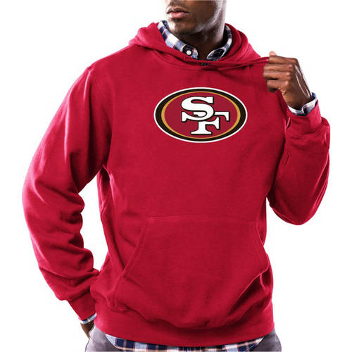 NFL Big Men's San Francisco 49Ers Tek Patch Fleece Hoodie