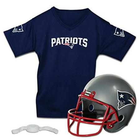 Franklin Sports NFL New England Patriots Replica Youth Helmet and Jersey - New England Patriots Helmet
