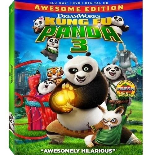 Kung Fu Panda 3 (Awesome Edition) (Blu-ray + DVD + Digital HD) (With INSTAWATCH) 024543098164