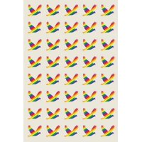 Poetose Press: Rainbow Doves for LGBTQ Rights: A Poetose Notebook (50 pages/25 sheets) (Paperback)