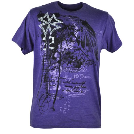Route 66 Messenger (Route 66 Ornate Graphic Heather Purple Fashion Adult Men Tshirt Tee Shirt XLarge)