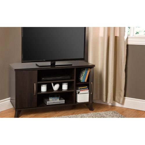 South Shore Caraco Mocha Corner TV Stand for TVs up to 42""