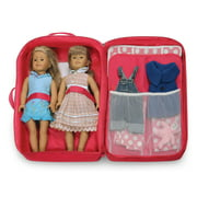 Badger Basket Double Doll Travel Case With Bunk Bed And Bedding Pink Fits American Girl My Life As Most 18 Dolls