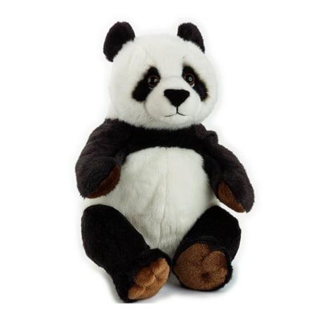 Realistic Black Bear - Lelly - National Geographic Basic Plush, Panda Bear