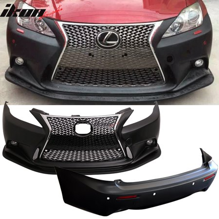 For 06-13 Lexus IS250 IS350 F-Sport Front & Rear Bumper Conversion Cover PP