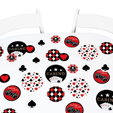 Las Vegas - Casino Party Giant Circle Confetti - Party Decorations - Large Confetti 27 Count