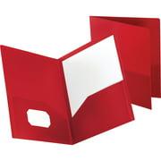 Oxford, OXF57411, Polypropylene Twin Pocket Portfolio, 1 Each, Red