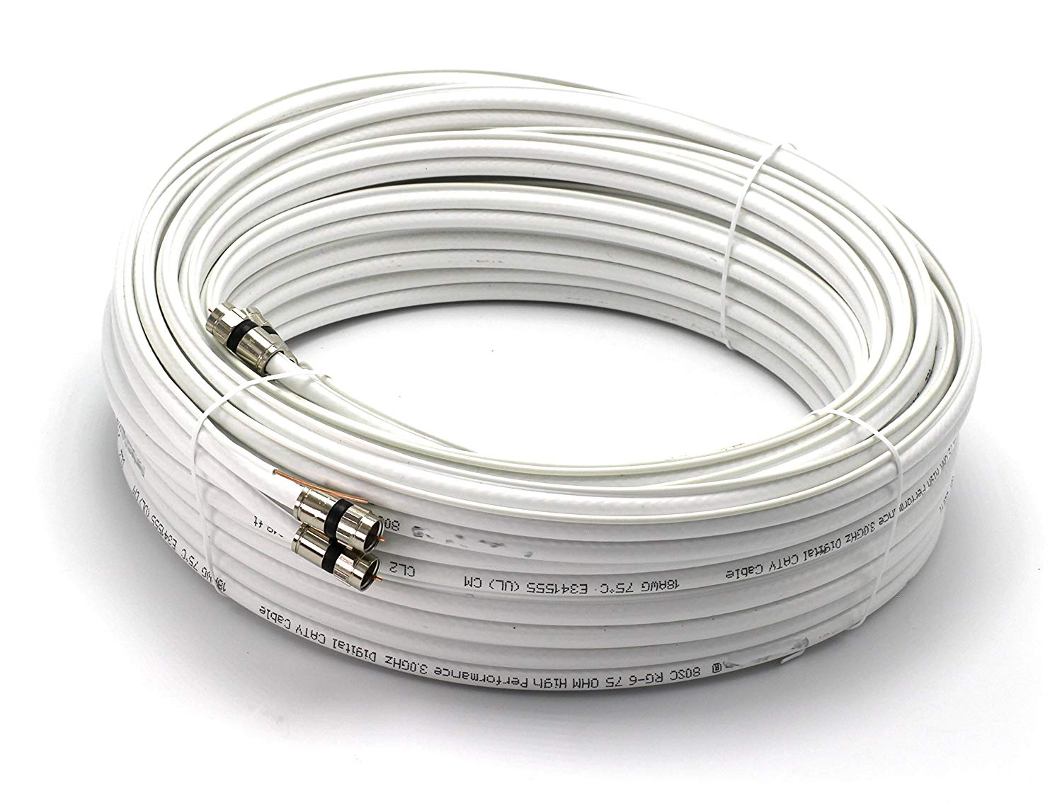 RG6 HD VIDEO COAX Satellite Cable Antenna WIRE PROFESSIONAL COMPRESSION FITTINGS