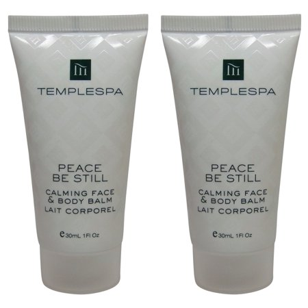 Temple Spa Peace Be Still Calming Face Body Balm Lotion 2 each 1oz tubes](Fake Body)