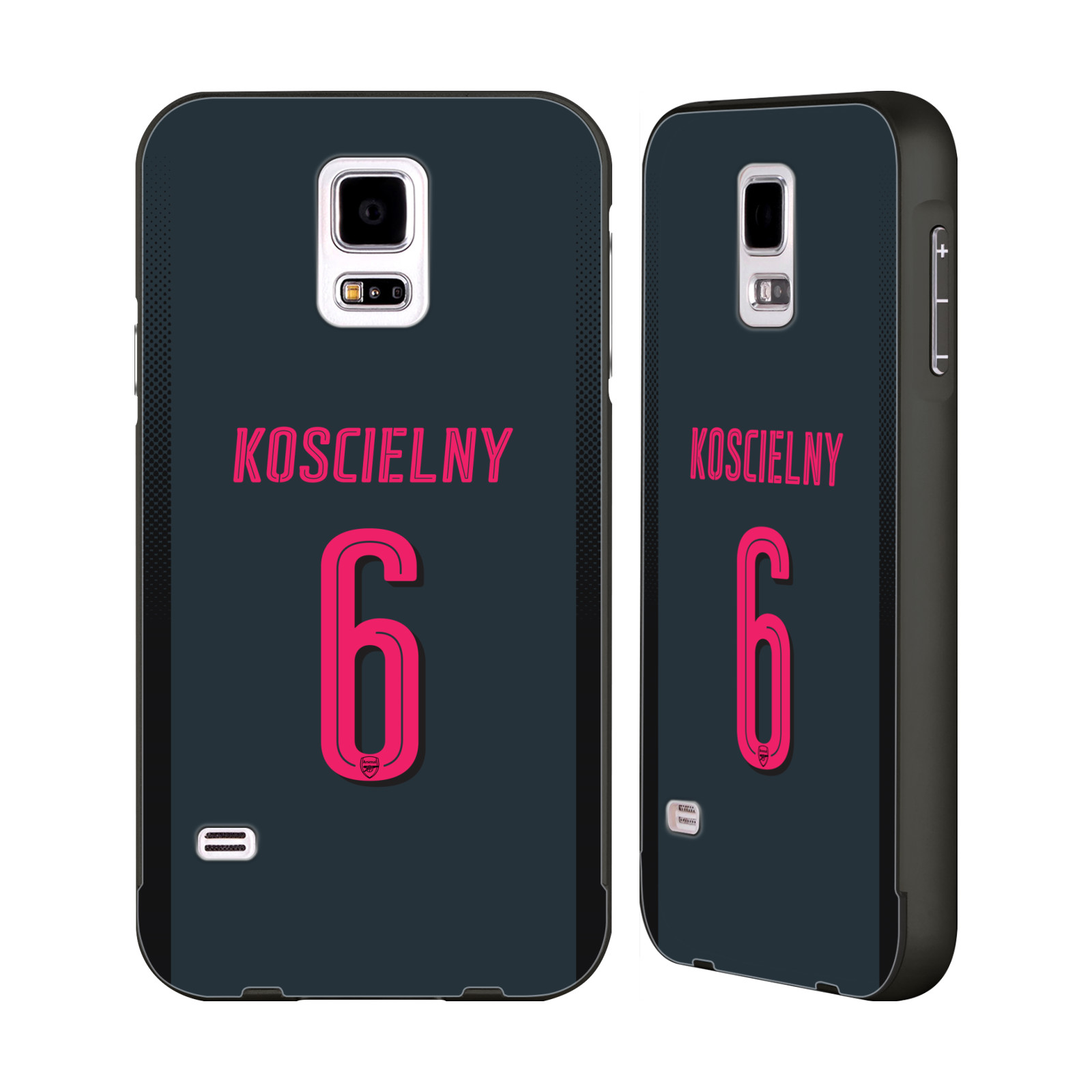 OFFICIAL ARSENAL FC 2017 18 PLAYERS THIRD KIT 2 BLACK ALUMINIUM BUMPER  SLIDER CASE FOR SAMSUNG PHONES fbe28a9f2
