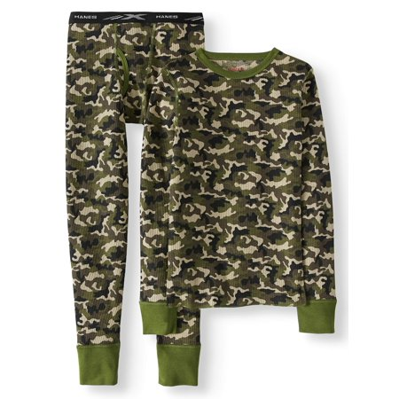 Boy's X-Temp Thermal Waffle Camo Set with FreshIQ ()