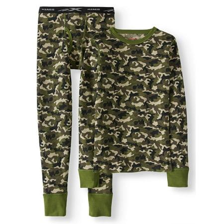 Hanes Boy's X-Temp Thermal Waffle Camo Underwear Set with FreshIQ (Little Boys & Big Boys)