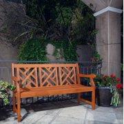 Outdoor Eucalyptus Wood Garden Bench