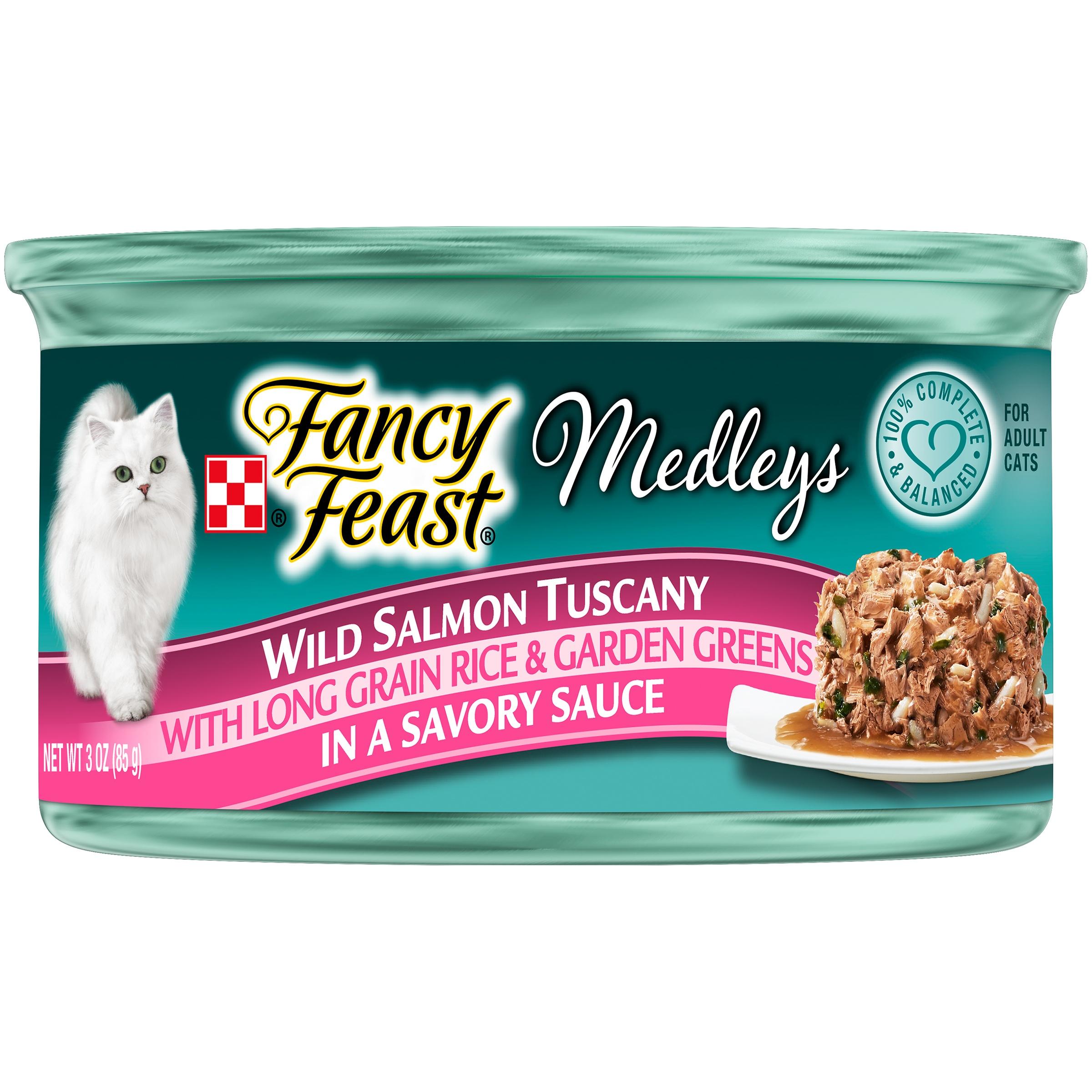 Purina Fancy Feast Medleys Wild Salmon Tuscany Cat Food 3 oz. Can